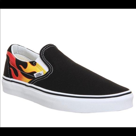 Vans Shoes | Flame Slip On | Poshmark